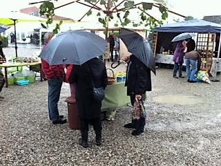 Vådt høstmarked på Hindsholm
