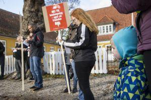 Mange demonstranter i Rynkeby
